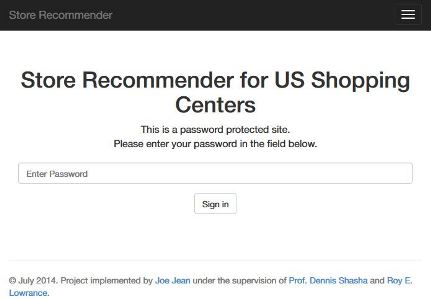 Store Recommender ScreenShot